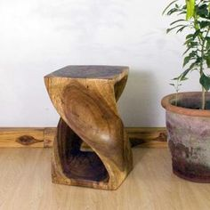 10 Inches Square X 16 Inch Monkey Pod Wood Walnut Oil