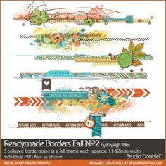 Readymade Borders: Fall No. 02- Studio Double-D Elements- EL540588- DesignerDigitals