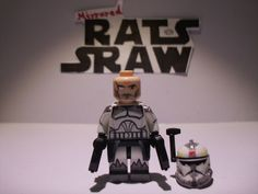 Lego Star Wars minifigures - Clone Custom Troopers - Commander Wolffe