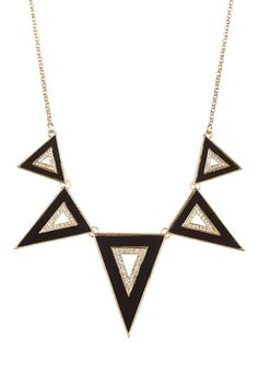 Triangle Enamel Necklace.