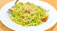 """Watch Cooking video classes and recipes on Grokker. View """"Raw Vegan Zucchini Pasta with Basil Pesto"""" and more Vegan & Raw Food, Main Course, or Healthy Eating videos."""