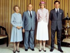 Prince Charles and Diana with New Zealand's Prime Minister Robert Muldoon and his wife Thea. Image credit: PA