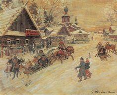 Konstantin Korovin (Russian 1861–1939) [Impressionism, Art Nouveau] Russia. Festival, 1931.