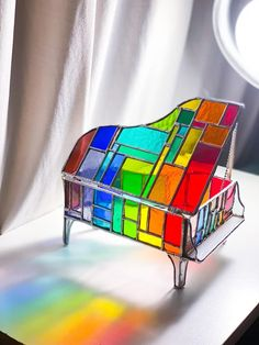 Stained Glass Table Lamps, Stained Glass Paint, Stained Glass Designs, Stained Glass Projects, Mosaic Glass, Glass Art, Fused Glass, Piano Lamps, Stained Glass Christmas