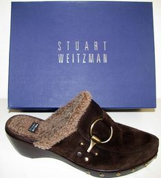 New Stuart Weitzman 'Circuit' Clog Cola Sport Suede Size 10M in Clothing, Shoes & Accessories, Women's Shoes, Heels | eBay