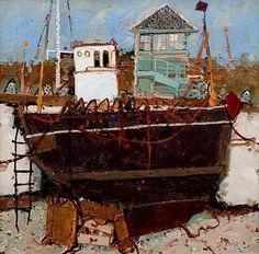 Scottish Artist David SMITH-Locks Caledonian Canal
