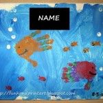 Handprint Fish Canvas Painting