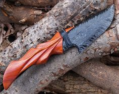 Áed Skinner custom carved exotic wood by StrangebloodDesigns Obsidian Knife, Obsidian Blade, Cool Knives, Knives And Swords, Beil, Flint Knapping, Knife Art, Concept Weapons, Knife Sheath