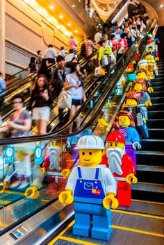 Lego at Times Square in Hong Kong.  Are these maxifigs?