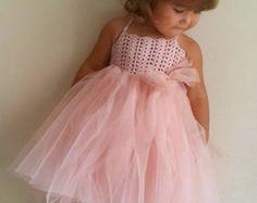 Vestido de niña. Tul vestido con corpiño de encaje por AylinkaShop