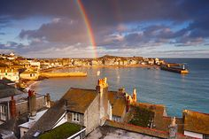 A rainbow on Christmas day, St. Ives, Cornwall. #Christmasincornwall. http://www.allaboutcornwall.com/Cornwall_Places/West_Cornwall/St_Ives/St_Ives_Cornwall.html