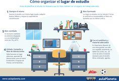 Cómo organizar el lugar de estudio Reading Tips, Teacher Pay Teachers, Home Office, Desktop Screenshot, Study, Google, Twitter, Amelia, Infographics