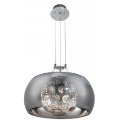 Searchlight  Lighting Curva 6 Light Ceiling Pendant in Polished Chrome Finish