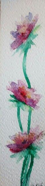 Watercolor Flowers. Elsa Nutz