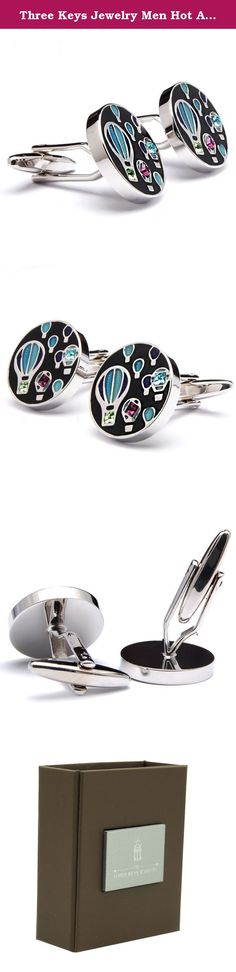 Three Keys Jewelry Men Hot Air Balloon Brass Cufflinks Blue Purple Black Plated Silver Polish Cubic Zirconia Inlay Fit Dress Shirt Tuxedo Stylish GD-2740. The Feature of Three Keys Jewelry Cufflinks ; No.1: Amazon Authentication Brand; (Quality Guarantee) No.2: Top Material and Workmanship; (Mirror and 360 High Polish and Smooth Surface) No.3: International Standard Environmental Plated Electroplated; (Safe and Health) No.4: Lovely and Fine Cufflink Gift Box! (Perfect Gift for Your…