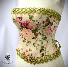 Bjd corset Iplehouse EID. dresses corsets por NikaNikaShopBJD