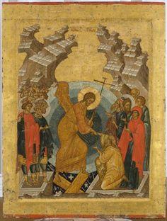 Iconostas Rusia sec. Byzantine Icons, Byzantine Art, Religious Icons, Religious Art, Renaissance Kunst, Holy Saturday, Christ Is Risen, Russian Icons, Christian Religions