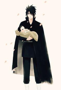 Imagen de naruto, sasuke uchiha, and sarada uchiha