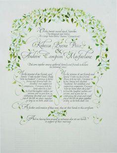Calligraphy  Design, Sally Sanders