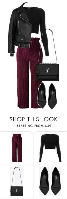 """""""Untitled #3271"""" by elenaday on Polyvore featuring Topshop, Yves Saint Laurent and Acne Studios"""