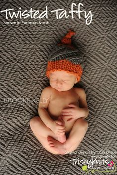 Baby Boy Hat Newborn Photography Prop Twisted Taffy by TrickyKnits, $40.00