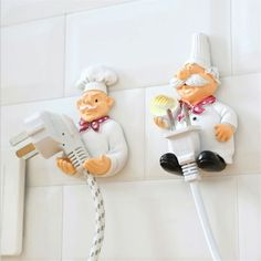 Wall Hooks Decorative New Dimensional Cartoon Chef Power Cable Plug Housing Hanger Hooks Creative Cute Strong Stick Hook. Category: Home & Garden. Subcategory: Home Storage & Organization. Product ID: Kitchen Outlets, Kitchen Hooks, Kitchen Decor, Kitchen Storage, Chef Kitchen, Kitchen Dinning, Shelf Holders, Rack Shelf, Storage Hooks