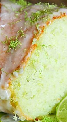 Lime Bundt Cake - This semi-homemade cake starts from a mix and you can whip it…