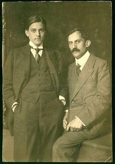 Aladár Komjáthy and Mihály Babits. - c.1917