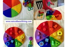 Natural Beach Living: Easy and Fun Activities for Teaching Colors, Montessori color activities, color sorting, DIY Color activities for toddlers Montessori Toddler, Montessori Activities, Toddler Play, Color Activities, Toddler Learning, Infant Activities, Creative Activities, Early Learning, Toddler Crafts