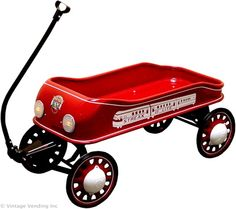 The Streak-O-Lite wagon was manufactured by Radio Steel & Manufacturing, a company that later became known as Radio Flyer, Inc. Kids Wagon, Toy Wagon, Pull Wagon, Radio Flyer Wagons, Little Red Wagon, Old Wagons, Drift Trike, Vintage Cycles, Kids Ride On