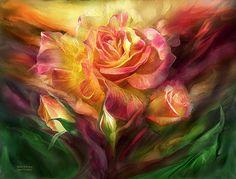 Birth Of A Rose art by Carol Cavalaris.