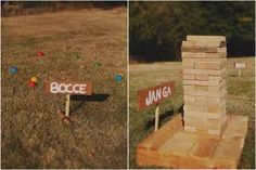 Garden games - giant jenga :)