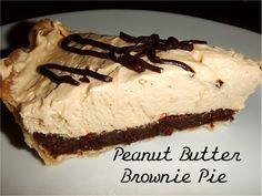 Simply Dream & Create: Peanut Butter Brownie Pie