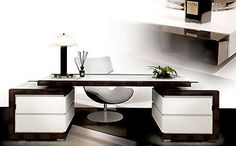Desks & Bureaus - PL MACASSAR EBONY & LEATHER DESK