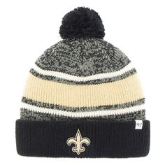 New Orleans Saints '47 Brand Fairfax Cuffed Knit Hat with Pom - Black - $19.19