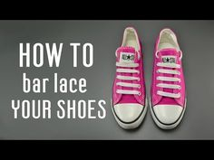 89870bd0201e How to bar lace your shoes - YouTube Lace Converse Shoes