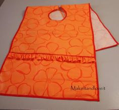 Art smocks, I'm thinking that a bunch of these could be made for my future classroom using clearance tablecloths.