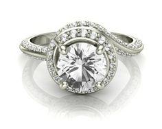 Unusual twist style diamond ring 68742 Image-1