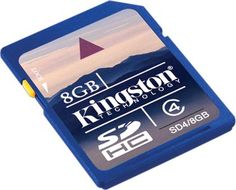 Memoria SD 8GB secure digital  Kingston class 4 SDhc SD4/8GB #iphone #blogtecnologia #tecnologia