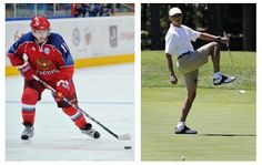 Sports, Obama vs Putin .  Ours vs yours.  Embarrassed yet America?  We have a PUSSYBOY at the helm.