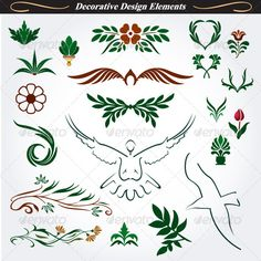 Collection of Decorative Design Elements 15 by infografx Collection of decorative elements and floral in vector format.Ideal for: creative greeting cards, invitations, books,brochures,ste