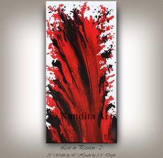 ARTE en venta arte moderno pared rojo por ContemporaryArtDaily