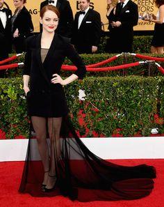 Emma Stone in Dior SAG awards 2015