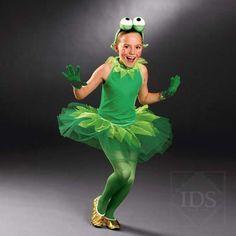 GREEN VELOUR TUTU - BALLET DRESS - FROG DANCE COSTUME