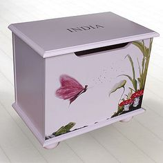 Personalised Toy Box Pink Fairy on Pink