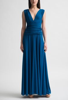 Nadia Tarr Sapphire Wrap Gown