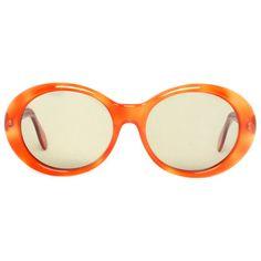 Girl Orange round Vintage Sunglasses ($39) ❤ liked on Polyvore