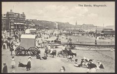 Dorset. Weymouth - The Sands. Bathing Machine. Donkeys. Vintage Printed Postcard | eBay