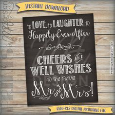 Wedding Rehearsal Love Laughter Happily Ever After Cheers to Rustic Rehearsal Dinners, Rehearsal Dinner Decorations, Rehearsal Dinner Invitations, Wedding Rehearsal, Wedding Reception, Chalkboard Print, Chalkboard Signs, Date, Rustic Wedding