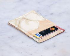 Minimalist wallet - Credit card wallet - Slim business card holder - OOAK - Minimalism - Womens Mens gift - Front pocket wallet by Chockrosa on Etsy